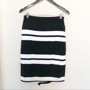 "Athleta Faux Wrap Stripes ""Zamora"" Skirt size S"